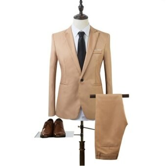Harga JOY Korea Korean fashion Business suit two piece suit Khaki - intl