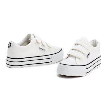 ่่JOY SELECTION รองเท้าผ้าใบเสริมความสูง3.7 ซม k022 สีขาว - 5
