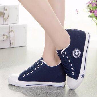 Kiyaya รองเท้าผ้าใบแฟชั่นเสริมส้นผู้หญิง รุ่น TP-CM9107-Navy (image 1)