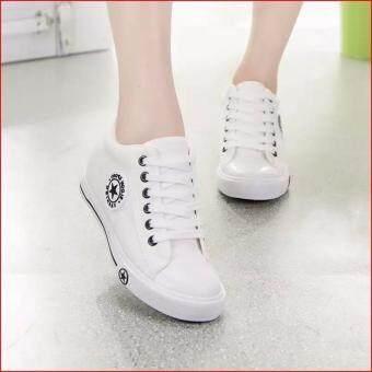 Kiyaya รองเท้าผ้าใบแฟชั่นเสริมสันผู้หญิง รุ่น TP-CM9107-White/Black (image 3)