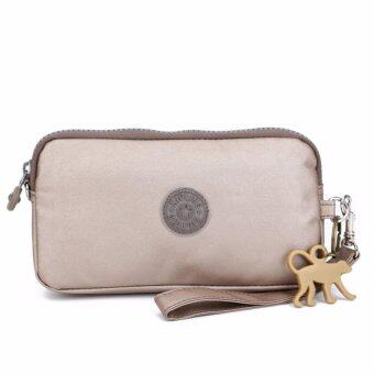 Harga Klpllng Fashion Women's Canvas Wallet(gray) - intl