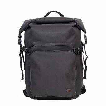 KNOMO กระเป๋าเป้แล็ปท็อปกันน้ำ Roll Top Water-resistant BackpackHAMILTON Laptop 15 นิ้ว : Black
