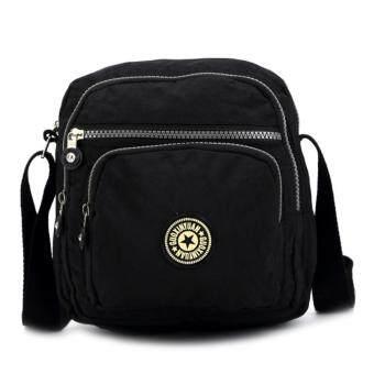 เสนอราคา Korea กระเป๋าสะพายข้าง ผ้ากันน้ำ รุ่น G007-1-H สีดำ