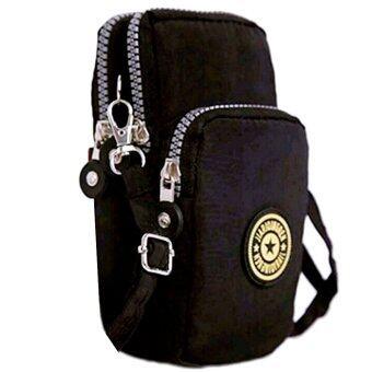 อยากขาย KOREA กระเป๋าสะพายใบเล็กผ้ากันน้ำใส่มือถือใส่สตางค์ รุ่นG088-5(สีดำ)