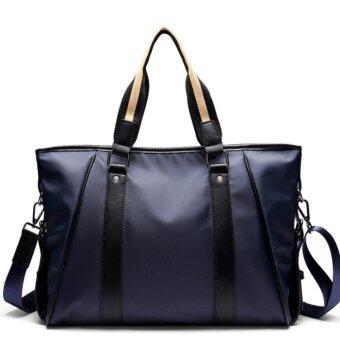 Korean male bag handbag business casual document bag single shoulder oblique Bag waterproof wear resistant Backpack - intl