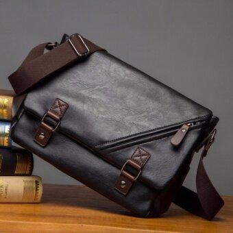 กระเป๋าสะพายข้าง Korean Style รุ่น 9848 (สีดำ)