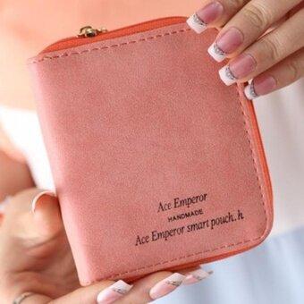 Lady Women Zipper Mini Purse Leather Wallet Credit Card Holder BagsGift WR - intl