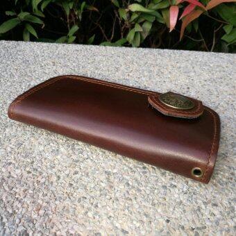 Leather lnc กระเป๋าถือกระเป๋าสตางค์ ผู้ชาย หนังแท้ รุ่น B-55599-9-1(สีน้ำตาลหนังเรียบ) - 4