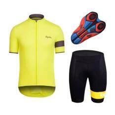 Lee Bicycle ชุดสั้นปั่นจักรยาน แบบใหม่ ลาย:RAPHA กางเกงเป้าเจล20D สำหรับนักปั่นทั้งชายและหญิง