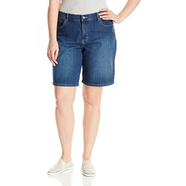 Lee Womens Plus-Size Relaxed Fit Bermuda Short, Oxford, 20W/Medium - intl