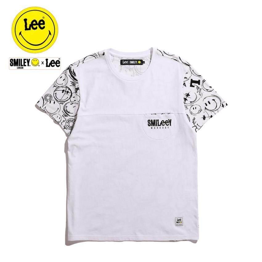 สินค้ายอดนิยม Lee x Smiley เสื้อยืดคอกลมแขนสั้น รุ่น LE 17001S04 สี WHITE0 สินค้ายอดนิยม