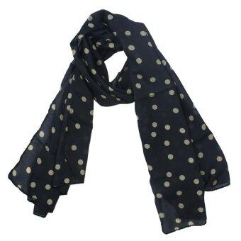 Leegoal Fashion Charming Beautiful Warm Beige Polka Dot ScarfShawlBlack - intl