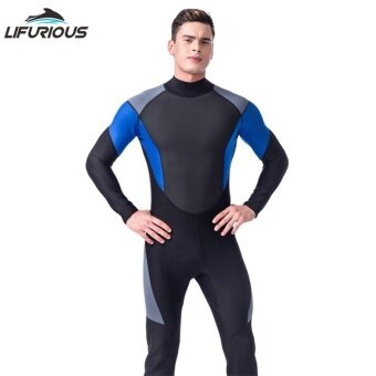 LIFURIOUS Brand 3mm Men's Diving Suit Full Body Jumpsuits Soft Neoprene Diving Wetsuit Breathable Spearfishing Surfing Swimwear - intl