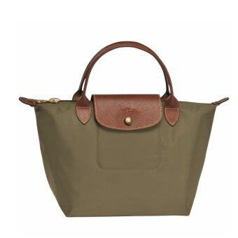 กระเป๋า Longchamp Le Pliage Small handbag - Kaki