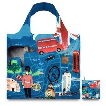 สนใจซื้อ Loqi Shopping Bags Urban London กระเป๋าผ้า รุ่น เออร์เบิน ลอนดอนใบใหญ่ 1 ใบ + ใบเล็ก 1 ใบ