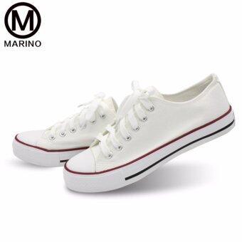 Marino รองเท้าผ้าใบผู้หญิง รุ่น A001 - สีขาว (image 1)