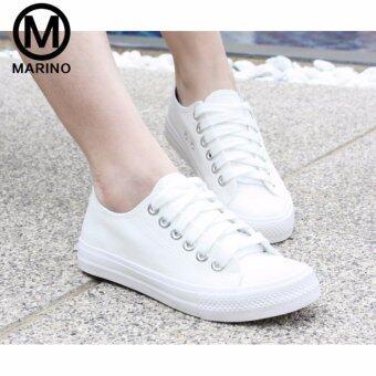 Marino รองเท้านักเรียน รองเท้าผ้าใบนักเรียน รองเท้าผ้าใบผู้หญิง รุ่น A007 - สีขาว (image 1)