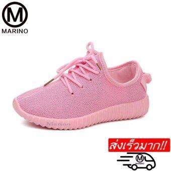 Marino รองเท้ารองเท้าผ้าใบผู้หญิง No.A004 - Pink
