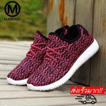 Marino รองเท้า รองเท้าผ้าใบผู้หญิง No.A005 - White Red