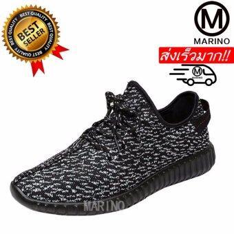 Marino รองเท้า รองเท้าผ้าใบสีดำผู้ชาย No.B002 - สีดำ ...