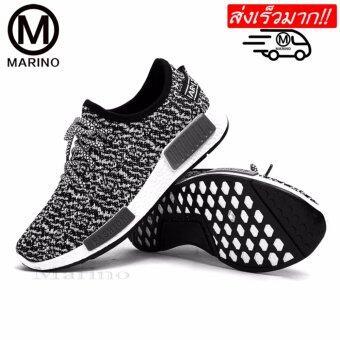 Marino รองเท้า รองเท้าผ้าใบสีดำผู้ชาย No.B003 - สีดำ