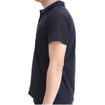 Marino เสื้อโปโล เสื้อแขนสั้นผู้ชายสีดำ No.S003 - ดำ (image 4)