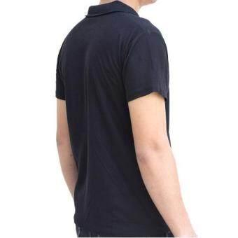 Marino เสื้อโปโล เสื้อแขนสั้นผู้ชายสีดำ No.S003 - ดำ (image 2)