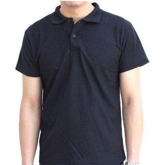 Marino เสื้อโปโล เสื้อแขนสั้นผู้ชายสีดำ No.S003 - ดำ (image 1)