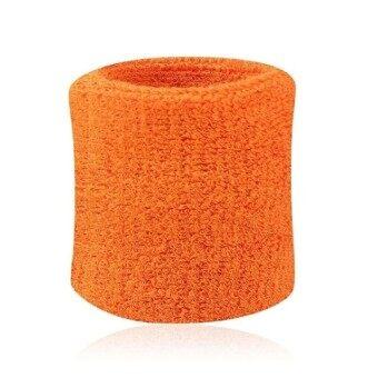 Men  Women Sports Sweatband Tennis Squash Badminton Terry Cloth Wrist Sweat Bands Basketball Gym Wristband Wrist Wraps - intl