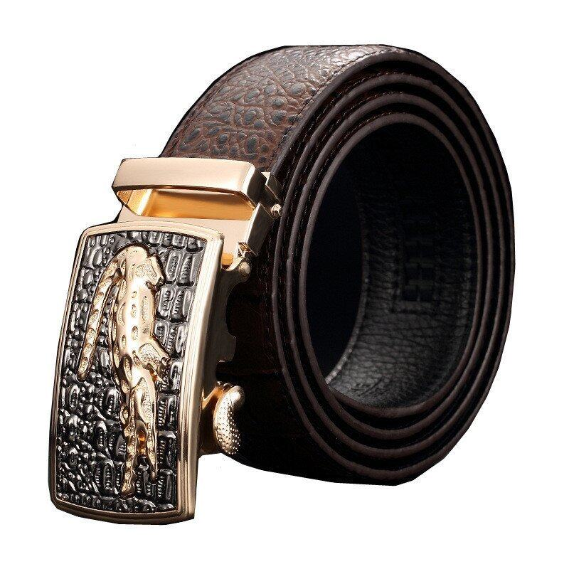... Men s Top Grade Leather Automatic Buckle Belt MBT021141 4 coffee silver buckle