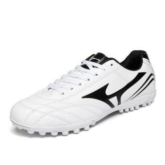 Harga Men Outdoor Professional Football Training Soccer Shoes White -intl