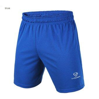 Harga Men 's Sports Shorts Casual Pants( Blue)