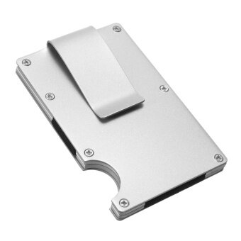 Men Stainless Steel Elastic Band Slim Money Clip Credit Card Holder Wallet Purse #Silver - intl
