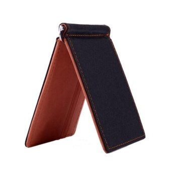 Men Wallet Short Wallets Leather Purses PU Leather Money ClipsSolid Thin Wallet Wallets For Men 3 Colors 03# - intl