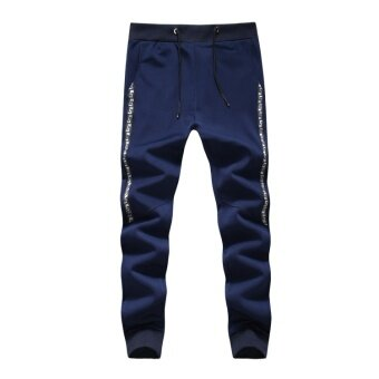 Men's Casual Sweatpants Long Pants Active Cotton Pants Men Jogger Pants Cotton Long Pants - intl