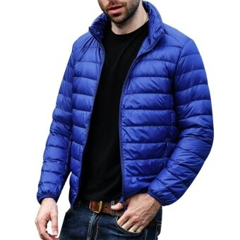 Men's Down Jacket Coat Ultra-Lightweight Packable Puffer withTravel Bag - intl