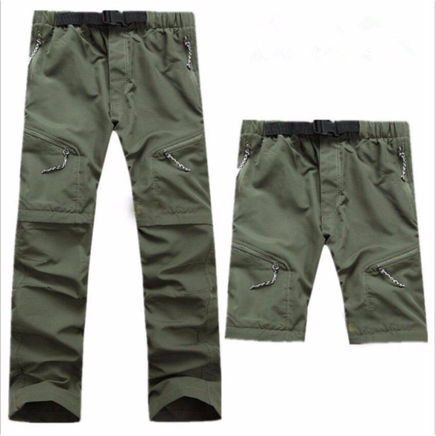 Men's outdoor quick-drying pants quick-drying trousers shorts pants two detachable - intl