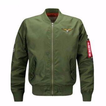 Mens Solid Flight Collar Bomber Jacket - intl