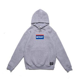 Miqiulin HIPHOP บวกกำมะหยี่ฮิปฮอป hoodies คลุมด้วยผ้าเสื้อกันหนาว (สีเทา)