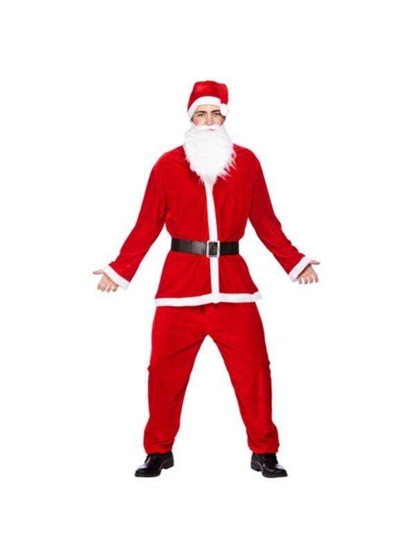 MIRAGE-SHOP ชุดซานตาครอส สำหรับผู้ใหญ่ ชาย ผ้ากำมะหยี่อย่างดี ครบเซ็ท
