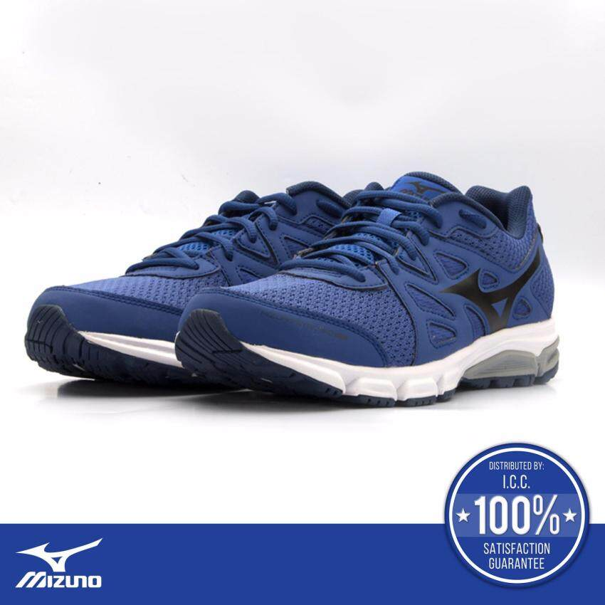 Mizuno Synchro MD (รองเท้าวิ่งผู้ชาย มิซูโน่ ซินโคร เอ็มดี) สีน้ำเงิน/ขาว