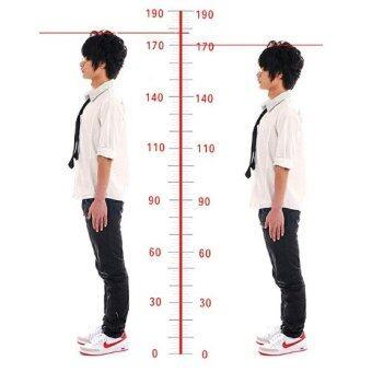 MODAKU แผ่นเสริมส้น 1 คู่ เพิ่มความสูงได้ 4 ระดับ Insole 1 pair 4 layers 3, 5, 7, 9 cm. แบบเต็มเท้า (Black/สีดำ) (image 2)