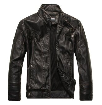 Harga Motorcycle Leather Jackets Men ,men's Leather Jacket, Jaqueta De Couro Masculina,mens Leather Jackets,men Coats - intl