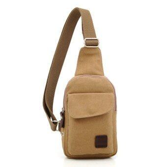 Harga MUZEE Man's Shoulder Bag Messenger Bags Sport Canvas Bag - Khaki - intl