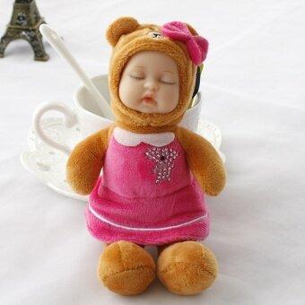 My นอนหลับตุ๊กตาราชินีหมีแพคเกจคริสตัลกำมะหยี่ (หมีสีชมพูกุหลาบกระโปรงจี้) (หมีสีชมพูกุหลาบกระโปรงจี้)
