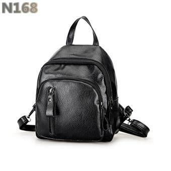 N168 กระเป๋าสะพายหลัง กระเป๋าเป้ กระเป๋าแฟชั่นผู้หญิง รุ่น No.02237 - Black