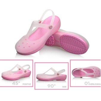 Harga New 2017 Women Sandals color change Mary Jane shoes Summer crocBeach jelly shoes flat sandals woman Slides(Pink) - intl