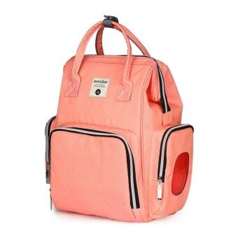 New Backpack Solid Color Nylon Large Capacity Mummy Shoulder Bag With Diaper Bag Nappy Bags - intl