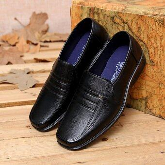 Harga New Men's Casual Shoes Fashionable Leather Shoes Men's Work ShoesChefs Work Shoes (Black) - intl