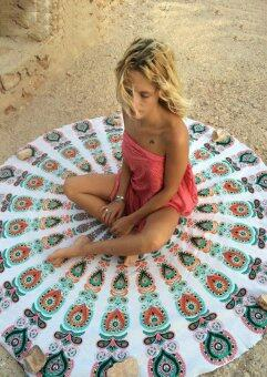 New Nice Flowers Mandala Wall Hanging Cloth Beach Towel PicnicBlanket Shawl